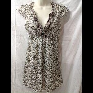 Women's size Large LOVE CHANGE cheetah print dress